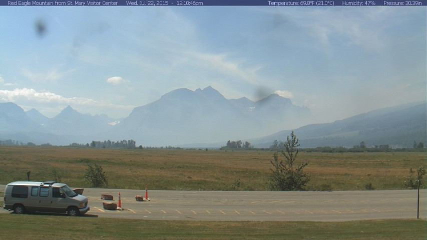 Smoke at St. Mary Entrance to GNP