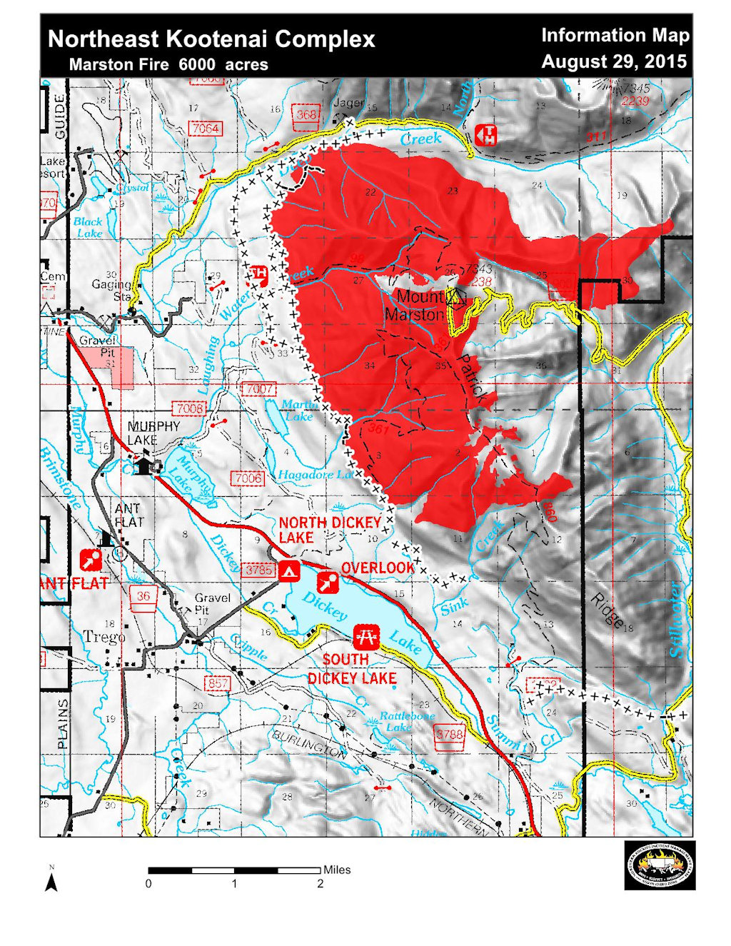 Marston Fire Information Map, Aug 29, 2015