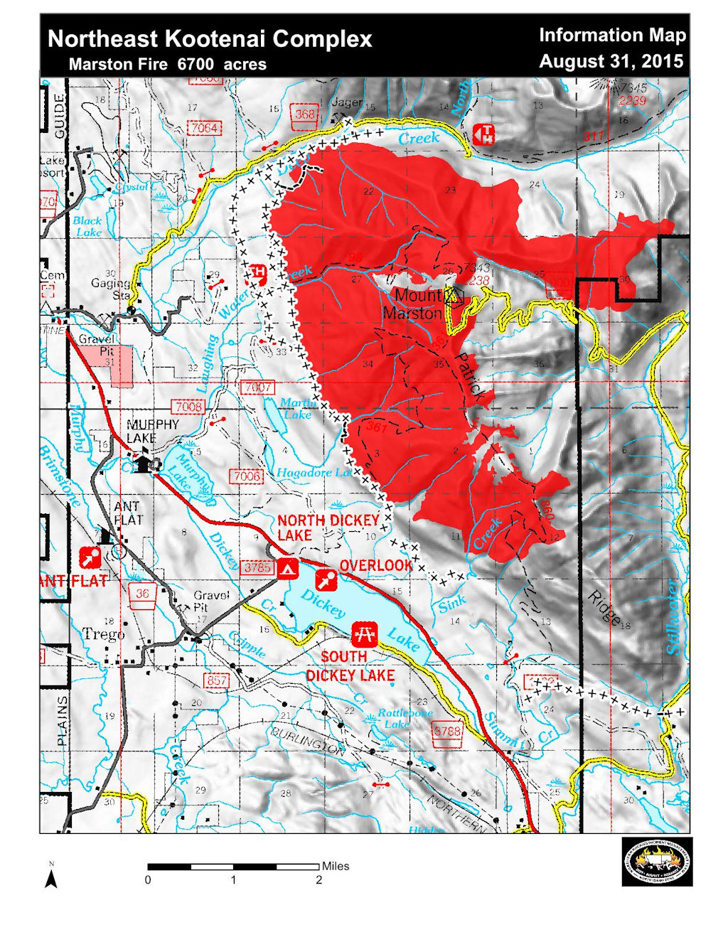 Marston Fire Information Map, Aug 31, 2015