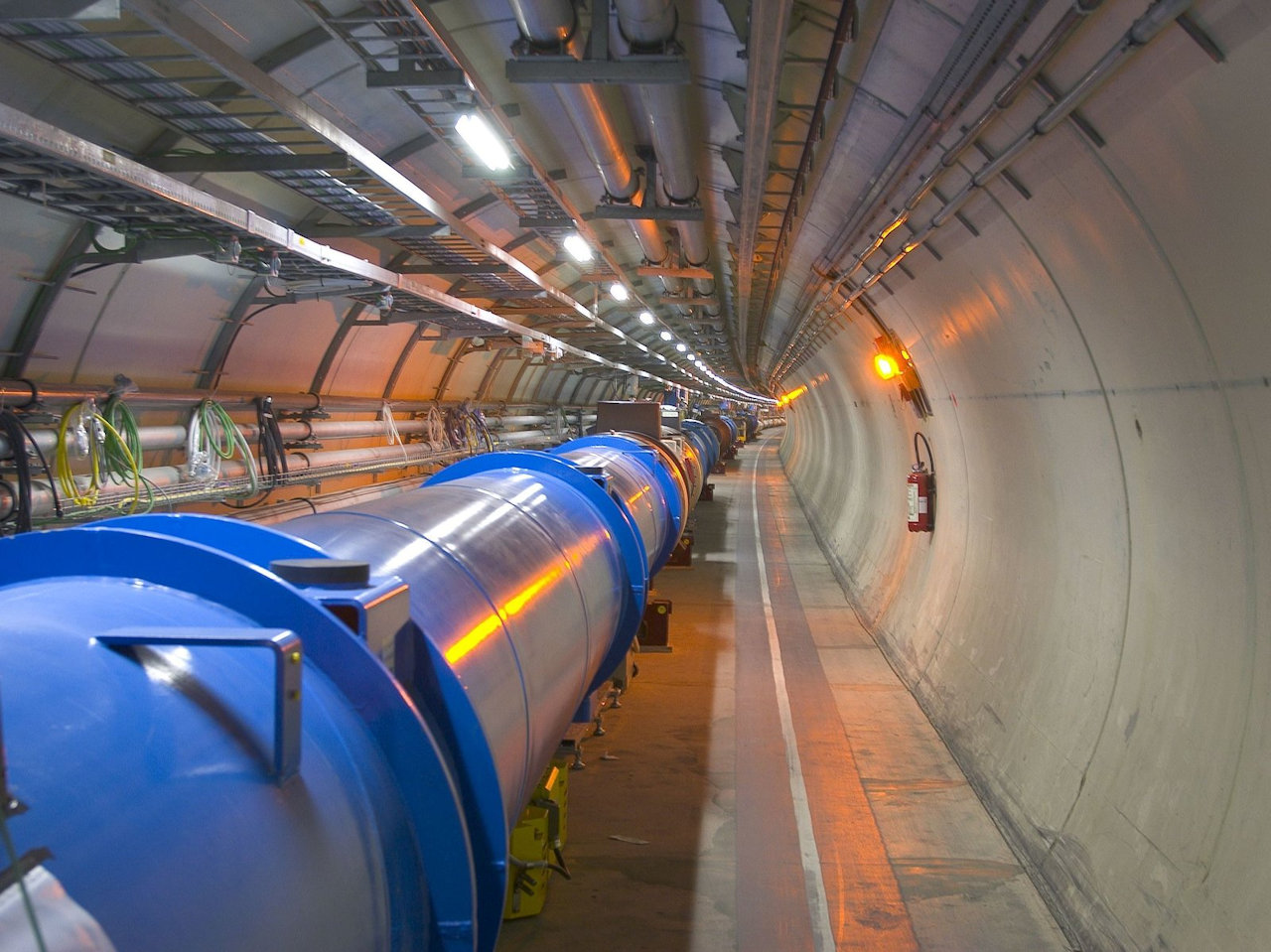 The Large Hadron Collider uses superconducting magnets to smash sub-atomic particles together at enormous energies - CERN
