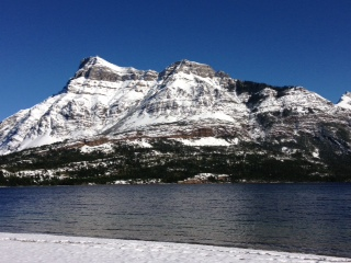 Waterton Lake after snow storm