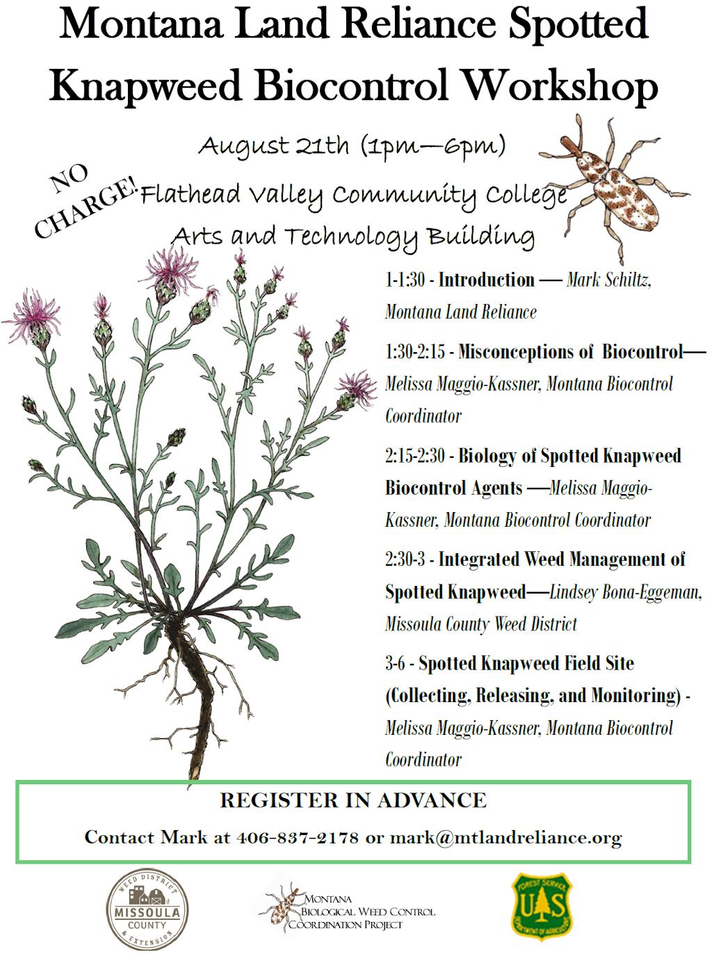 MLR Spotted Knapweed Biocontrol Workshop Aug 21 2015
