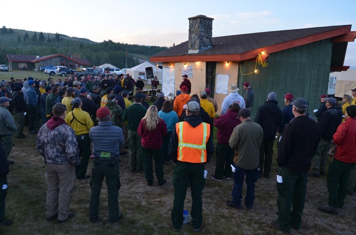 Reynolds Creek Fire - Morning Briefing at Incident Command Post