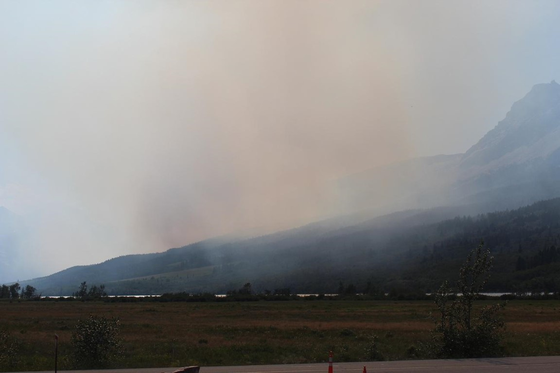 Smoke from Reynolds Creek Fire, July 22, 2015