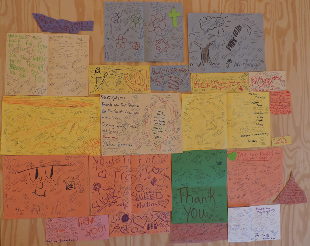 Canyon Community Church and 4H Club Thank-You notes