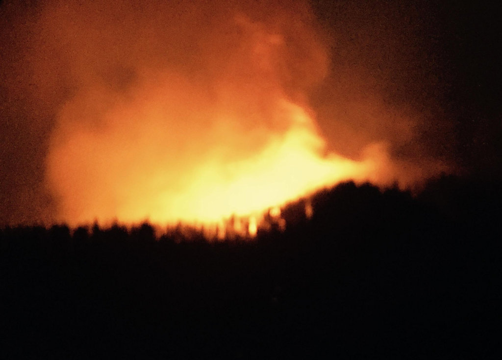 Granite Fire evening of Aug 26, 2015
