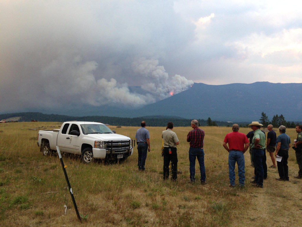Marston Fire actively burning, Aug 14, 2015