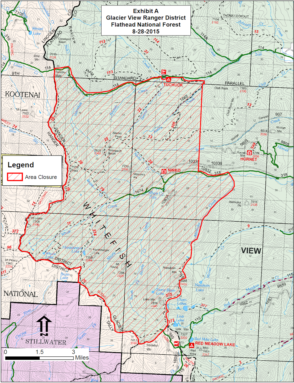 Marston Fire - FNF Area Closure, Aug 28, 2015
