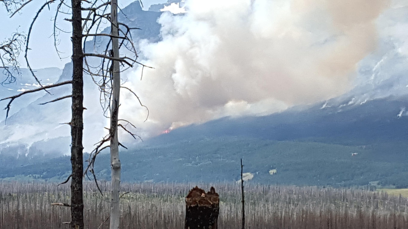 Reynolds Creek Fire From Pull Out - July 31, 2015
