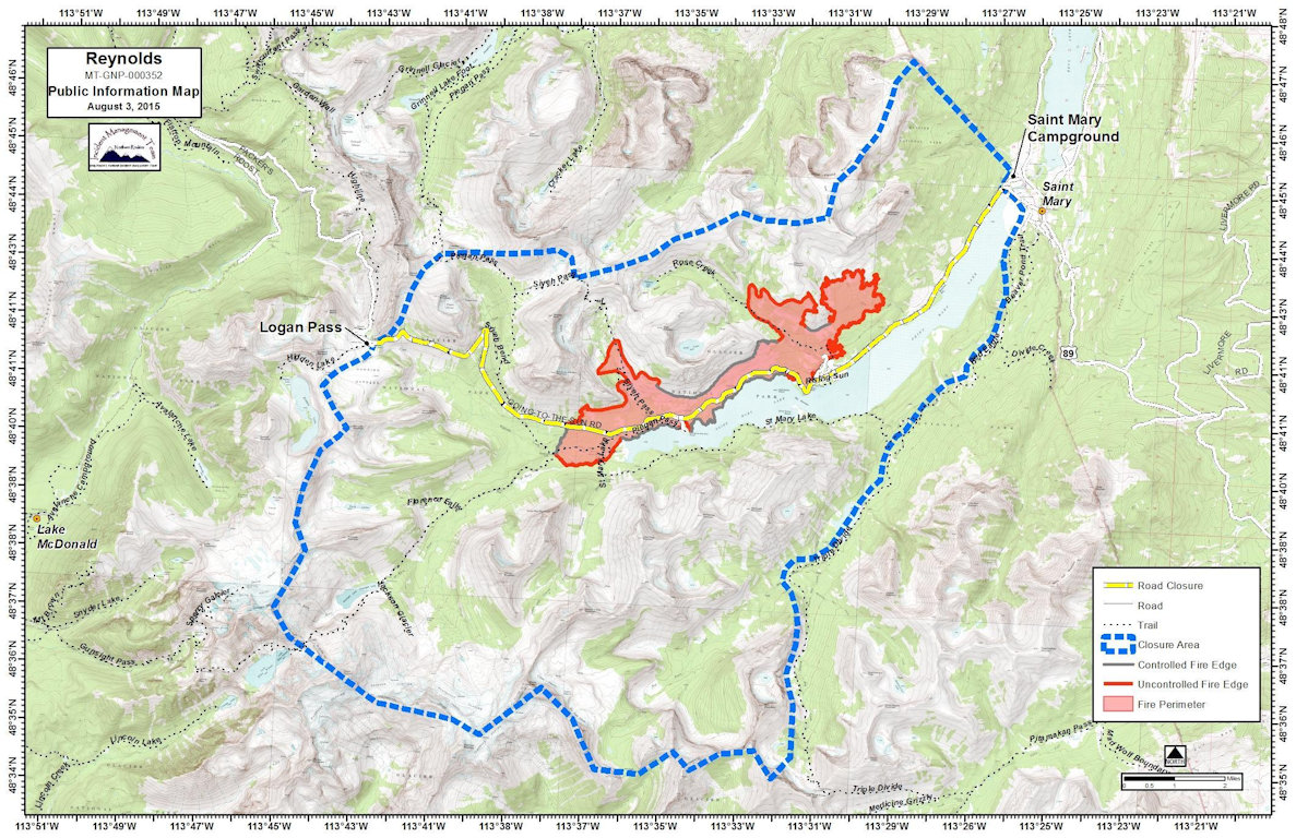 Reynolds Creek Fire Perimeter August 3, 2015