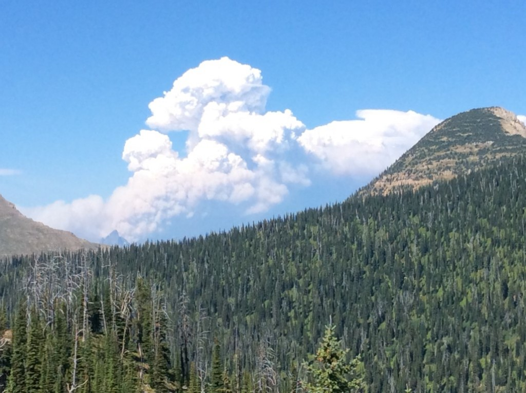 Thompson Fire from Baptiste LO, Aug 11, 2015, 405pm