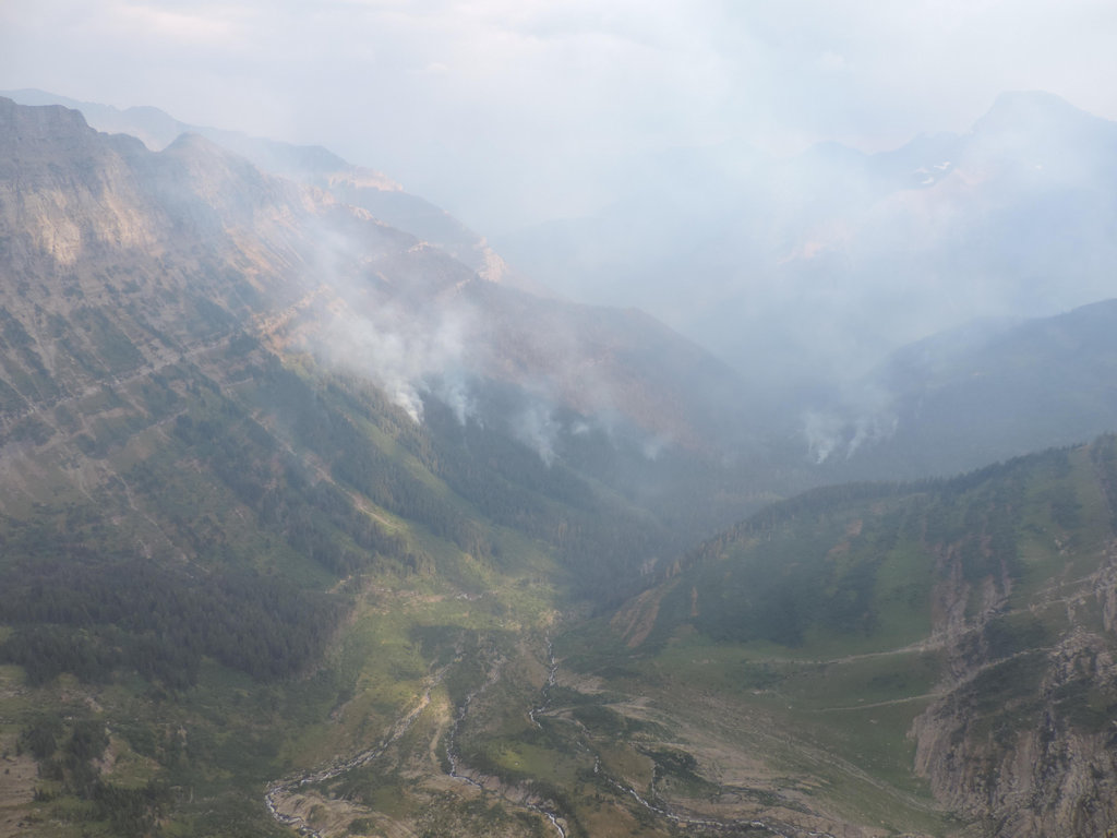 Thompson Fire in Glacier National Park backcountry, Aug. 16, 2015