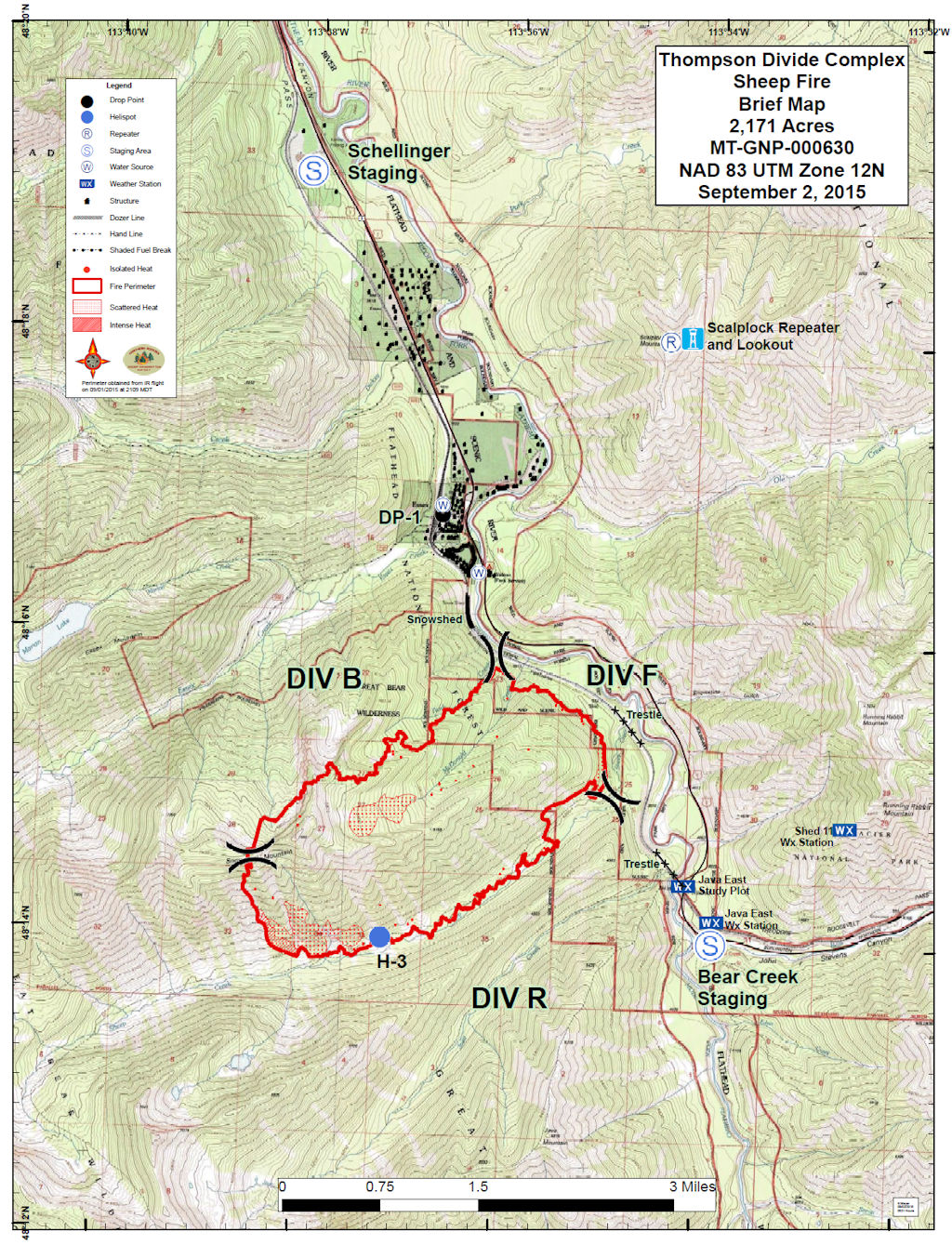 Sheep Fire Perimeter Map, Sep 2, 2015