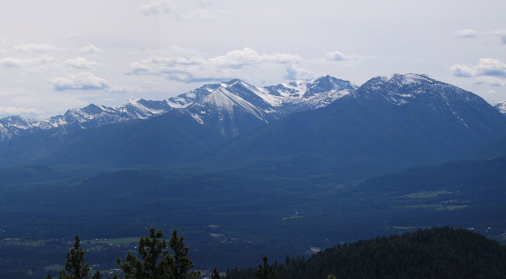 Southern Cabinet Mountains, as seen from Swede Mountain, near Libby