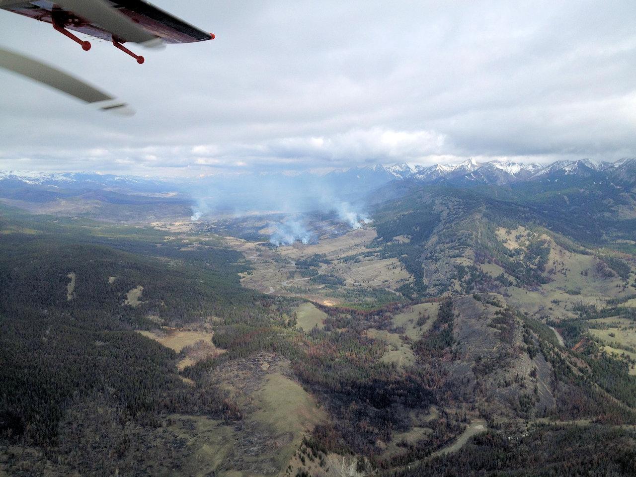 Elk Hill Fire, April 10, 2016 - USFS photo