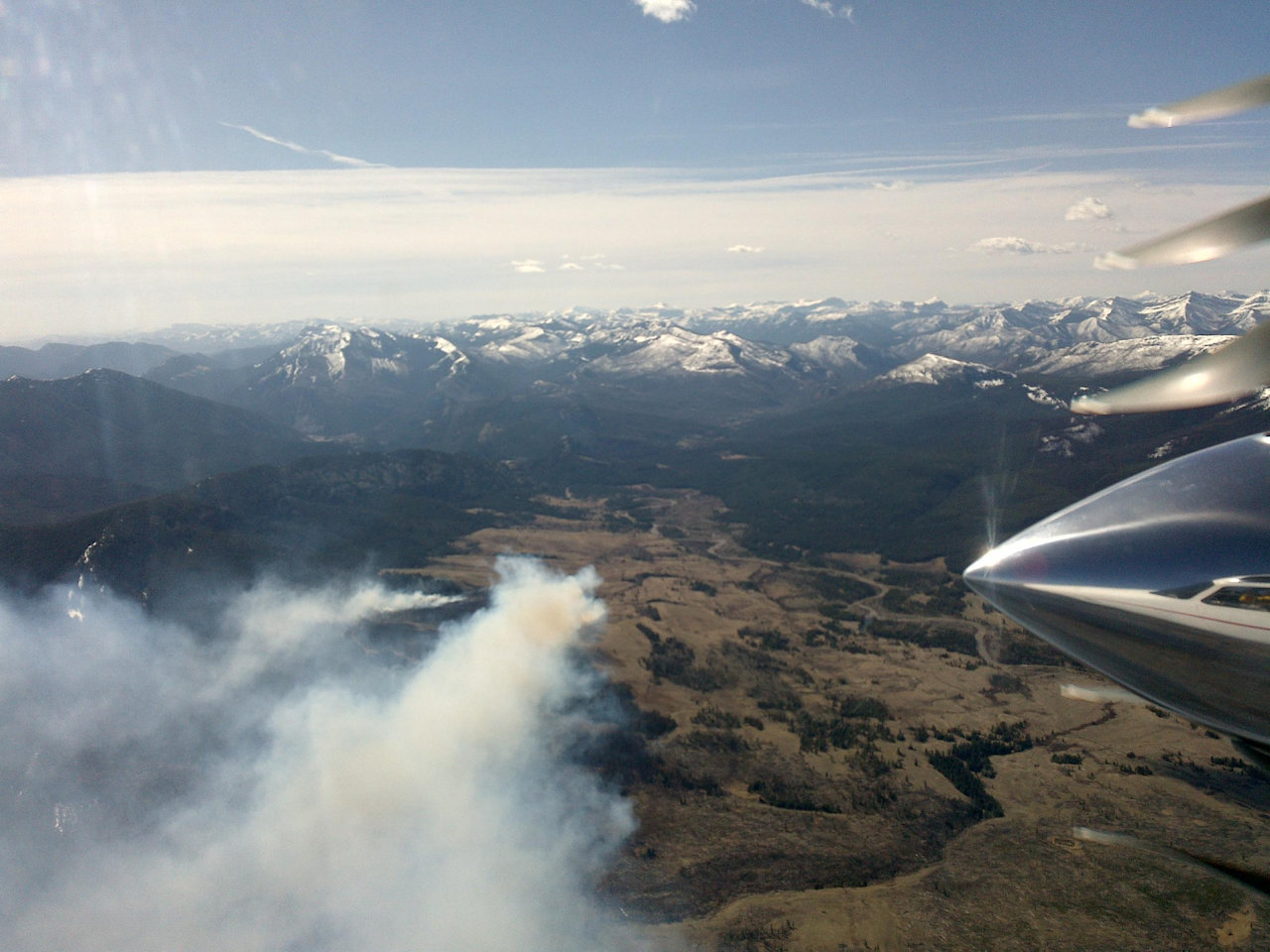 Elk Hill Fire, Lewis and Clarke NF, April 9, 2016 - USFS photo
