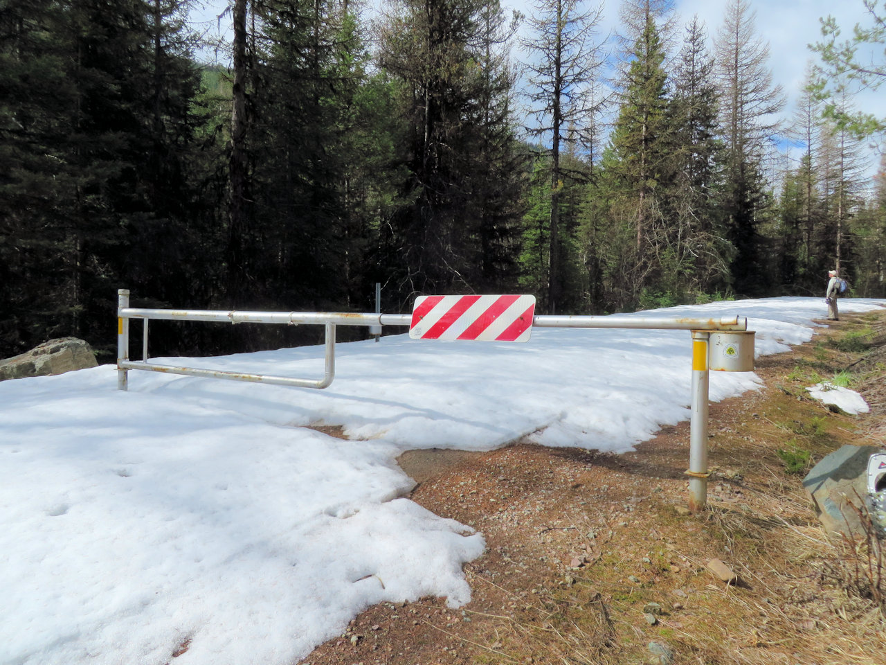 Gate Across Hay Creek Rd, Flathead NF, April 16, 2016 - W. K. Walker