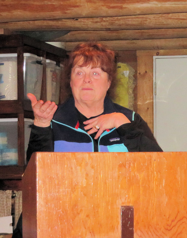 Suzie Graetz at the Polebridge Field Course presentation, Jan 16, 2017
