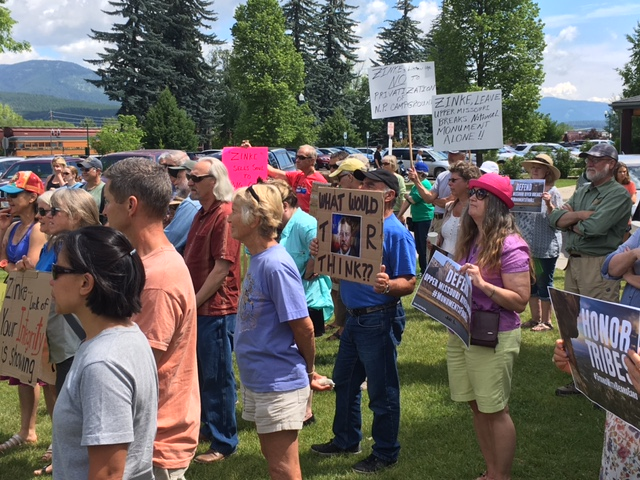 Crowd at rally for national monuments, June 27, 2017 - Debo Powers