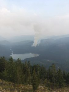 Cyclone Lake Fire from Cyclone LO, Aug 13, 2017