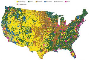 Map of land usage in the contiguous US - Bloomberg