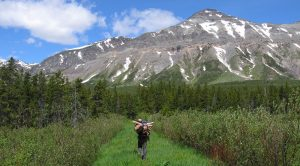 A researcher heads into Glacier National Park's backcountry - NPS, Melissa Sladek