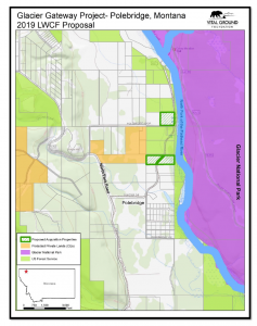 Map showing proposed Glacier Gateway Project land acquisition