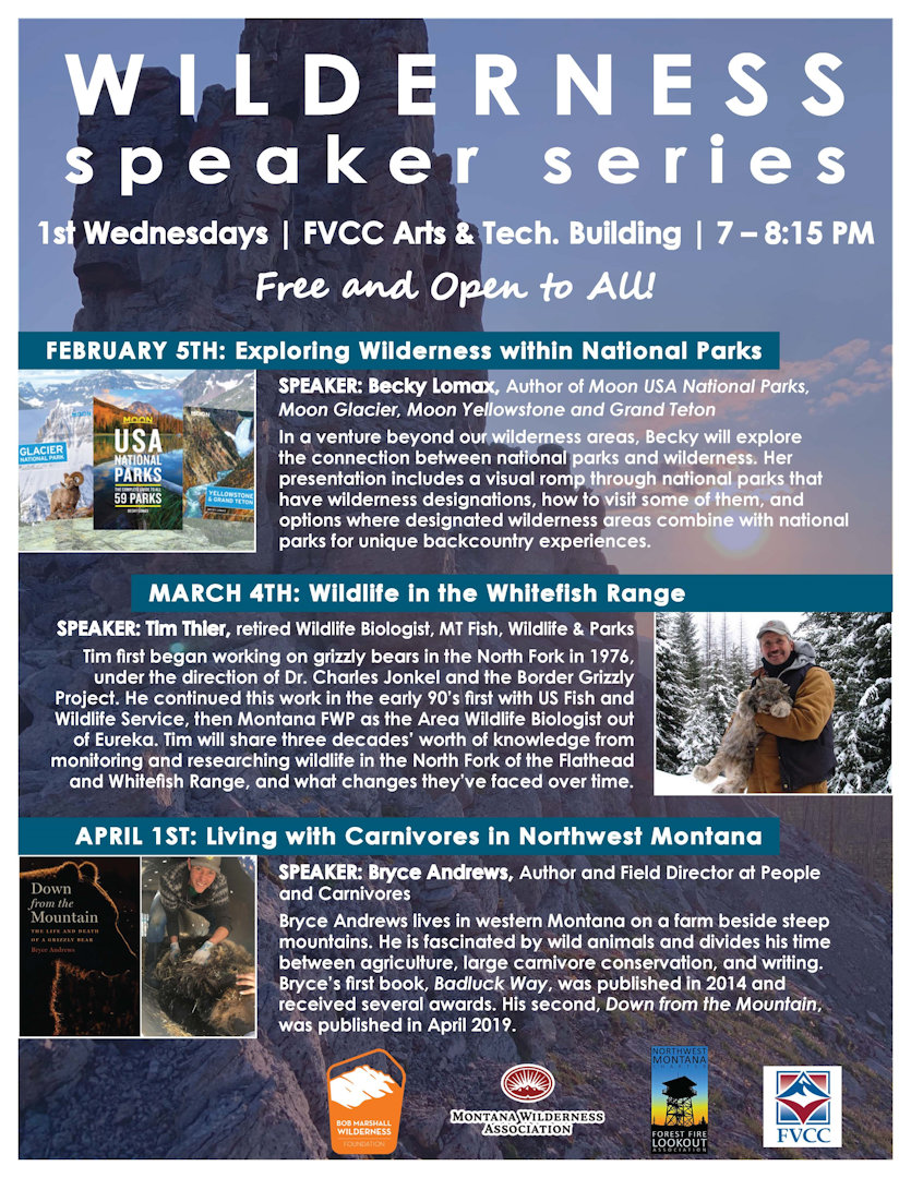 2020 Wilderness Speaker Series Poster