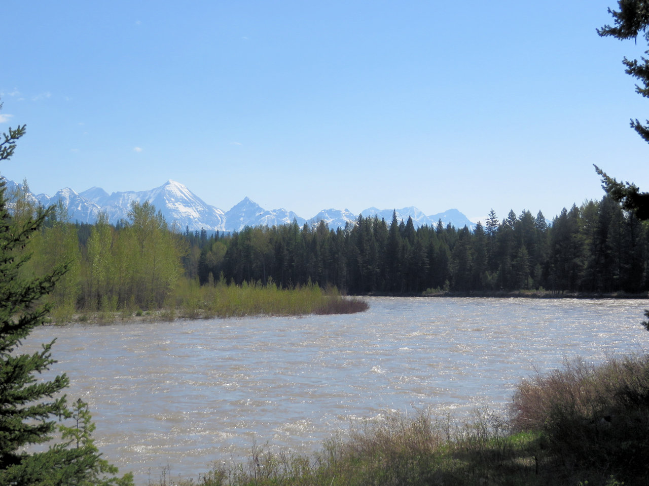 North Fork Flathead River at Ford Landing, May 16, 2018 - by William K. Walker